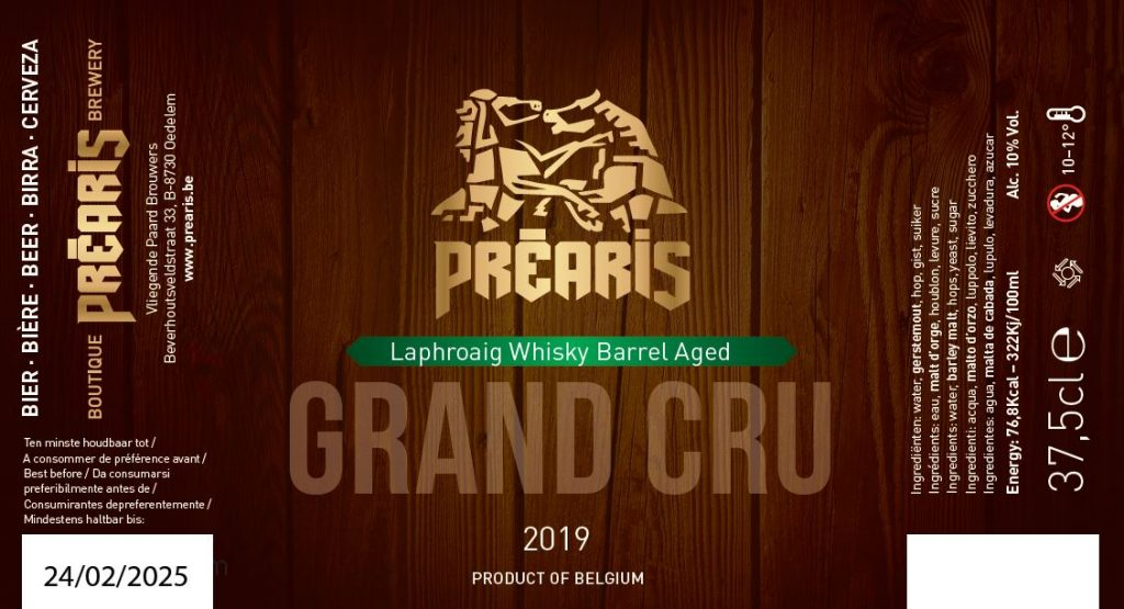 Préaris Grand Cru 2019 BA Laphroaig